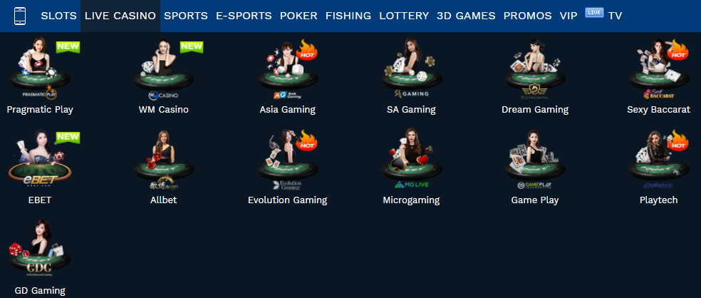live casino games in online casino AW8
